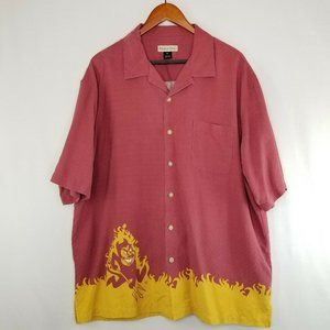 Douglas Lyon Mens Arizona State ASU Silk Button Up
